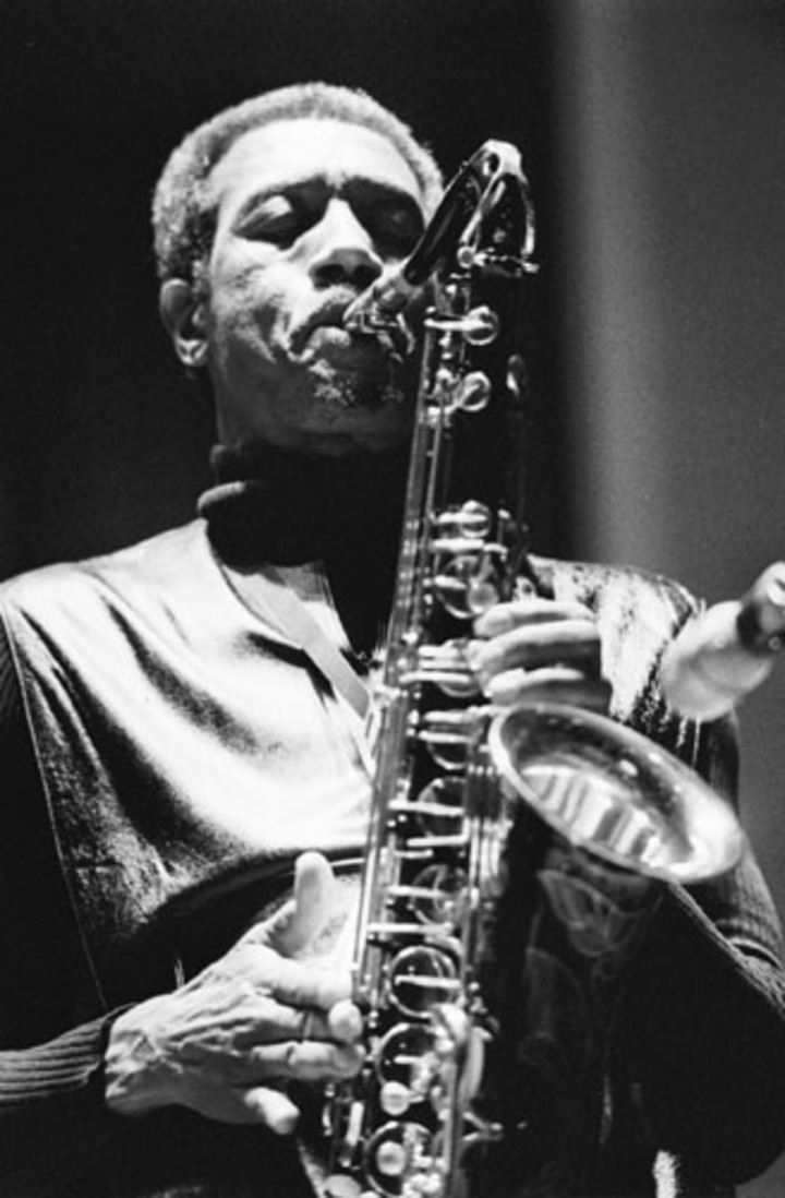 Sept 24 97 The Billy Harper Quintet performed before a packed house at the Music Building's Recital Hall Wednesday night. cr:  Galen A. Lentz