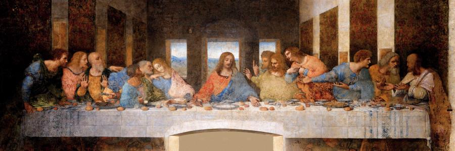 À mesa com Leonardo
